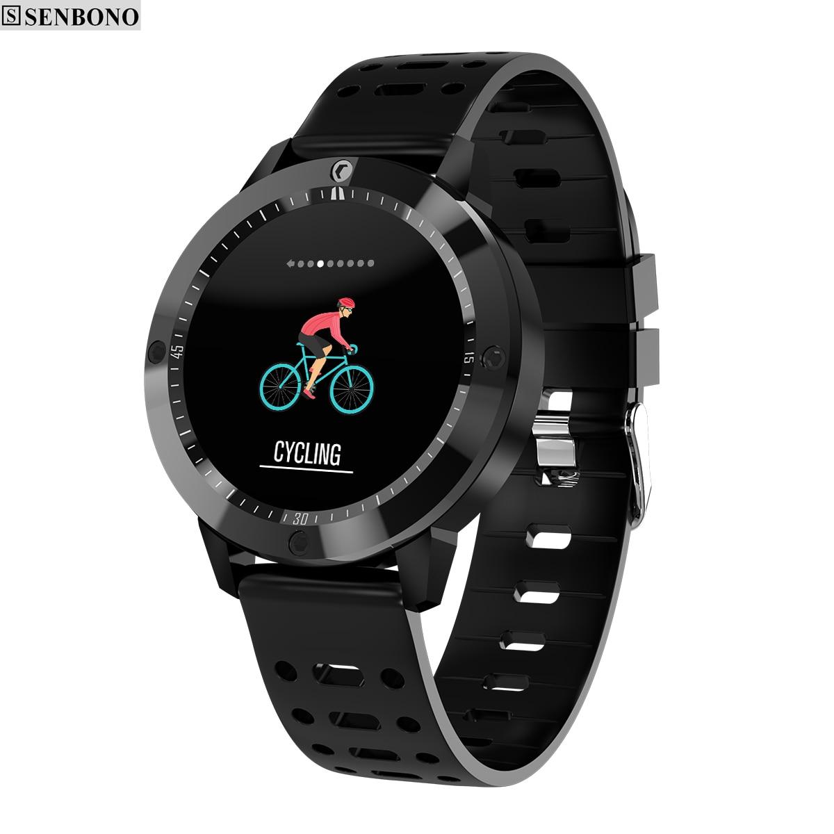 SENBONO CF58 Smart watch IP67 waterproof Tempered glass Activity Fitness tracker Heart rate monitor Sports Men women smartwatch Умные часы