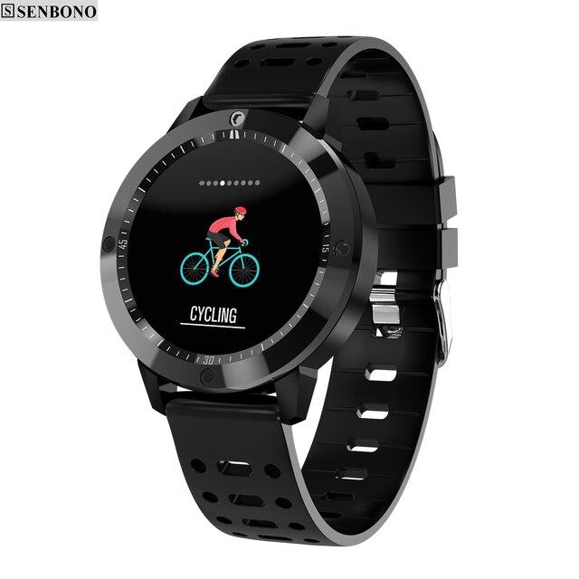 SENBONO CF58 Smart uhr IP67 wasserdicht Gehärtetes glas Aktivität Fitness tracker Heart rate monitor Sport Männer frauen smartwatch