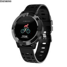 SENBONO CF58 montre Smart watch IP67 étanche en verre Trempé Activité Fitness tracker moniteur de fréquence Cardiaque Sport Hommes femmes smartwatch(China)
