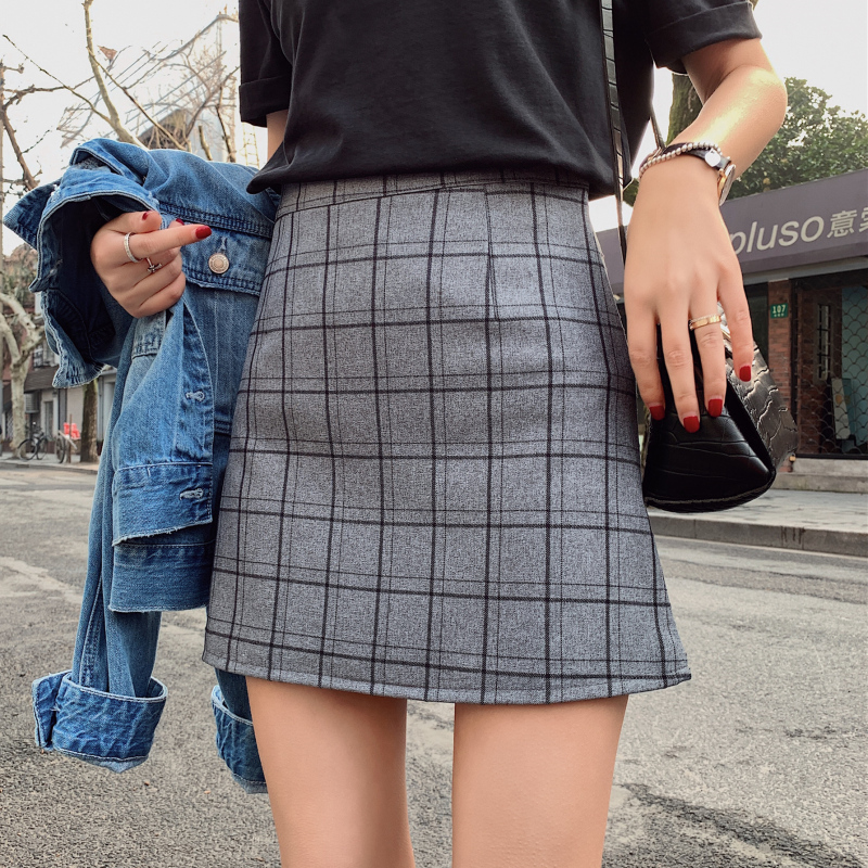2019 Summer Japan School Girl Uniform High Waist Skirt Korean Style Women A-line Girl Pleated Plaid Skirt Sexy Pink Mini Skirt