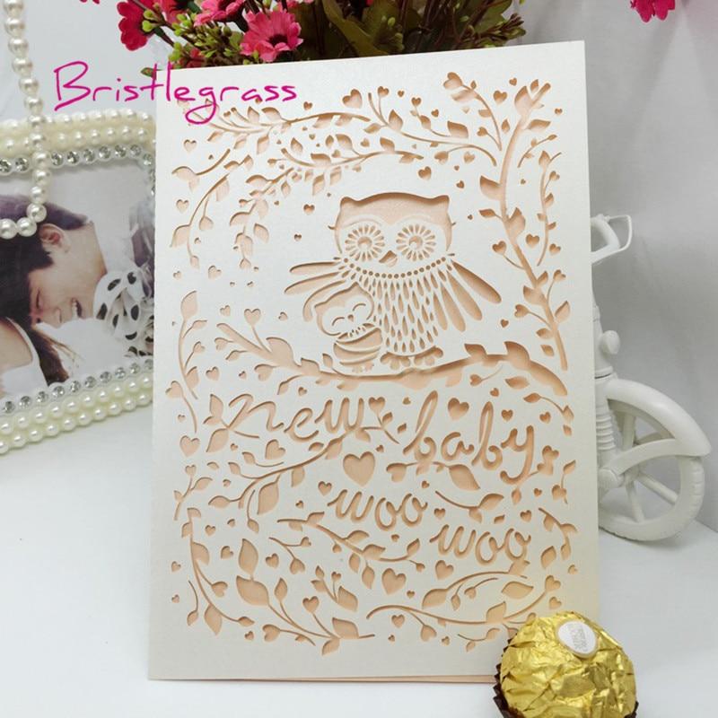 BRISTLEGRASS 1 Set Sample Laser Cut Owl Flower Vine Baby Shower