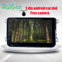 Quad Core Android 8.1 PC Car DVD GPS For VW Golf Passat Polo With Vollkswagen Canbus Capacitive Touch Screen 2din Car Multimedia