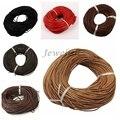 3mm 10 m/lote Cuero Abalorios Collar de Cordón de Cuero de Vaca DIY Making Material Negro CoconutBrown Chocolate Rojo Peru SaddleBrown