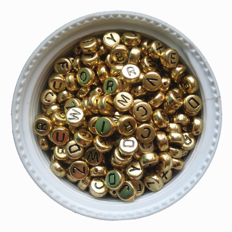3600PCS/Lot 4*7MM Gold Color Acrylic Plastic Coin Shape A-Z Letter Beads Flat Round Shape Kint Jewelry Bracelet Spacer Beads 500pcs bag 13 18mm flat back oval shape acrylic rhinestones acrylic plastic 3d nail art garment jewelry rhinestone