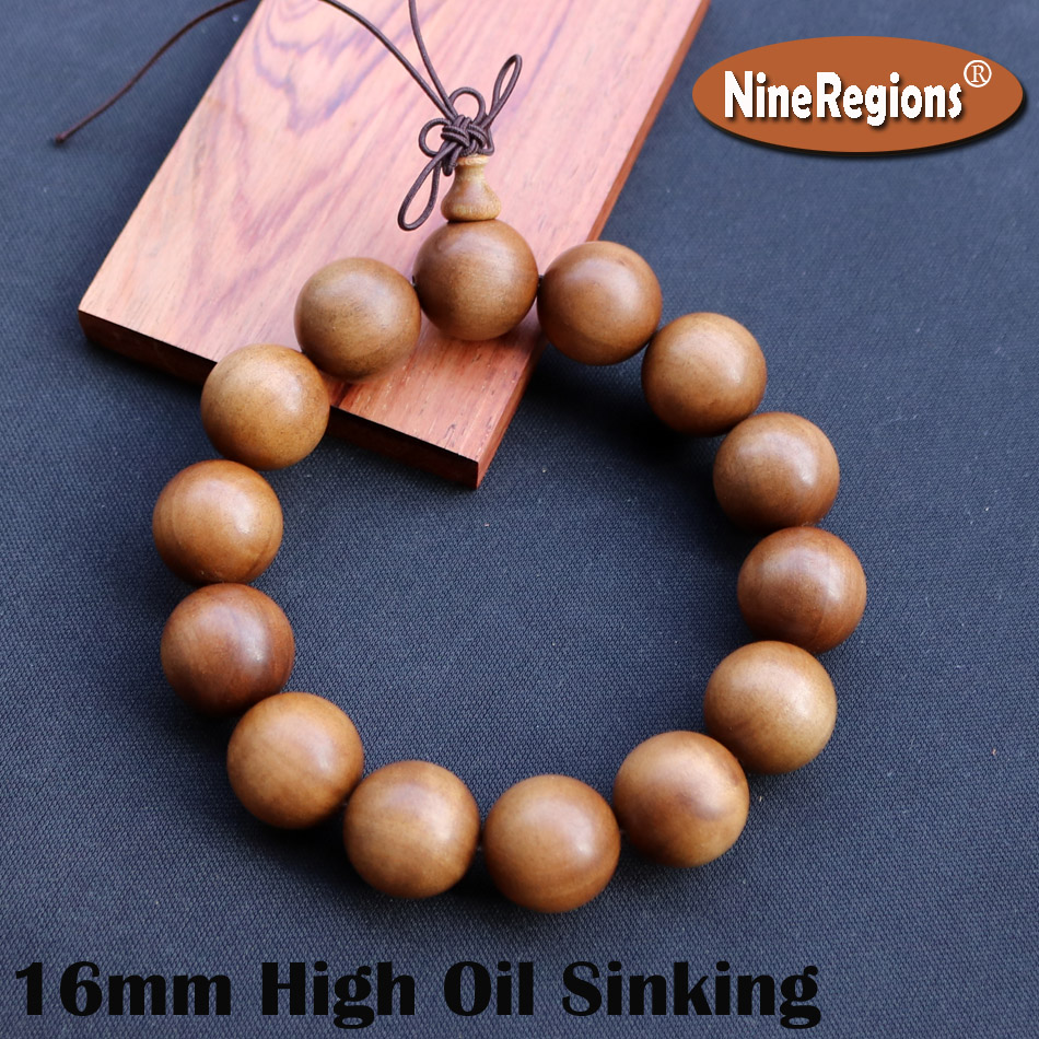 16mm Genuine Natural Sandalwood of Mysore India beads bracelet rich oil High density Strong milk aroma hand ornaments gift lady