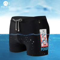 2019 Men's swimming trunks swimsuit wear pool shorts low waist swimwear hawaiian bermudas printed boxers maillot de bain mesh