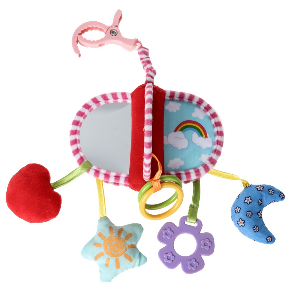 Baby Rattles Hanging Toy Stroller Star Hanging Rattle Mobile Products Musical Soft Rotate Wind-up Twist Bed Bell Cute Baby Toys 66cm baby toys bed hanging rattles toys white rattles bracket set infant mobile bed bell toy holder arm wind up music boxes toys