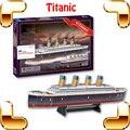 New DIY presente Z-T018S Titanic 3D quebra-cabeça quebra-cabeça navio modelo grande navio coleção filme decoração escritório lembrança brinquedos