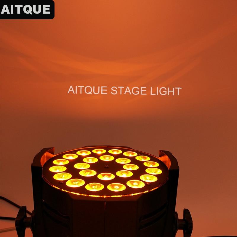 10lot Disco lights high quality par led 24x18 rgbwa uv light par 64 dmx led par led stage par 24 18w
