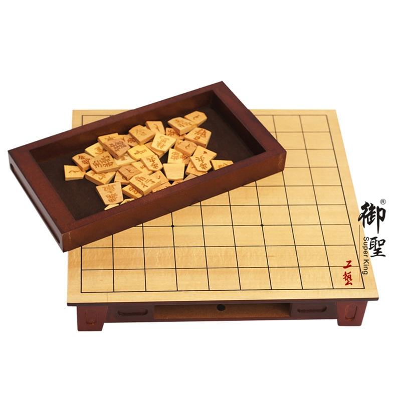 цена на BSTFAMLY Wooden Japan Shogi 27*25*5cm 40 Pcs/Set International Checkers Folding Sho-gi Chess Game Table Toy Gift Children LD02