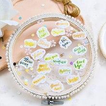 100 pcs/lot Cute English alphabet mini paper Sealing Stickers Diary Label Pack Decorative Scrapbooking Diy Sticker