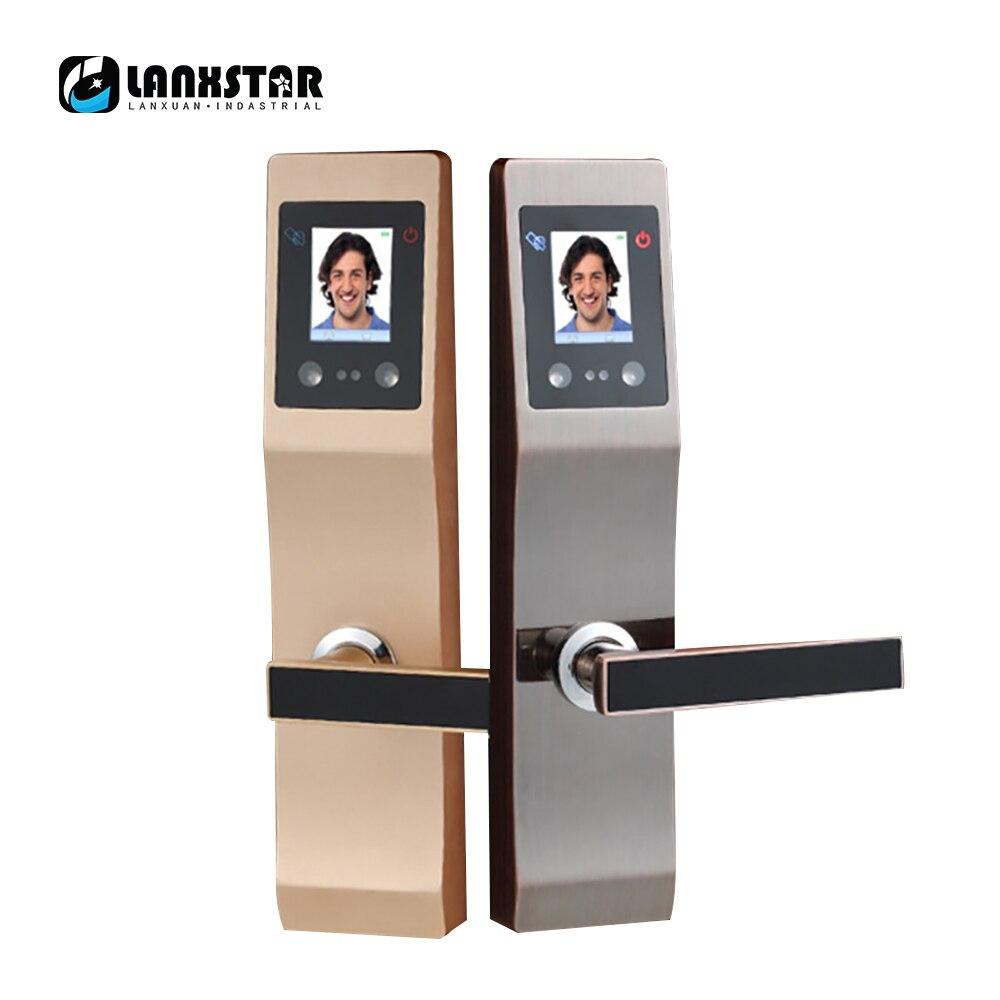 LANXSTAR Viso di Riconoscimento di Palma Stampe Blocco Intelligente Appartamento Casa Anti-furto Porta di Sicurezza Password di Elettronica Serratura Intelligente