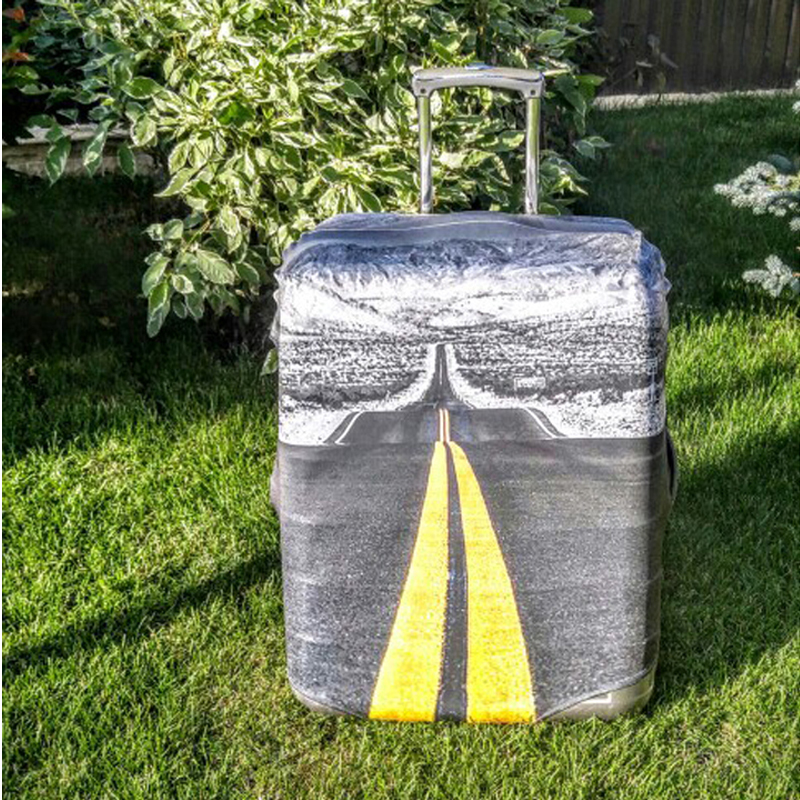 FORUDESIGNS Sound Music Print Suitcase Protective Cover,Stretch Elastic Luggage Covers for 18-28 Suit Case Travel Accessories