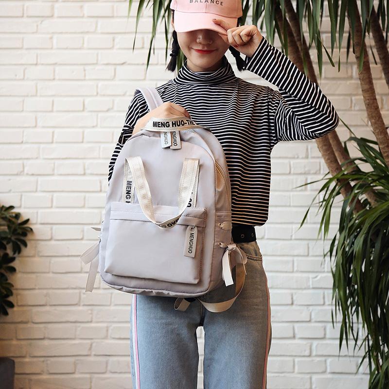 Menghuo Large Capacity Backpack Women Preppy School Bags For Teenagers Female Nylon Travel Bags Girls Bowknot Backpack Mochilas (26)