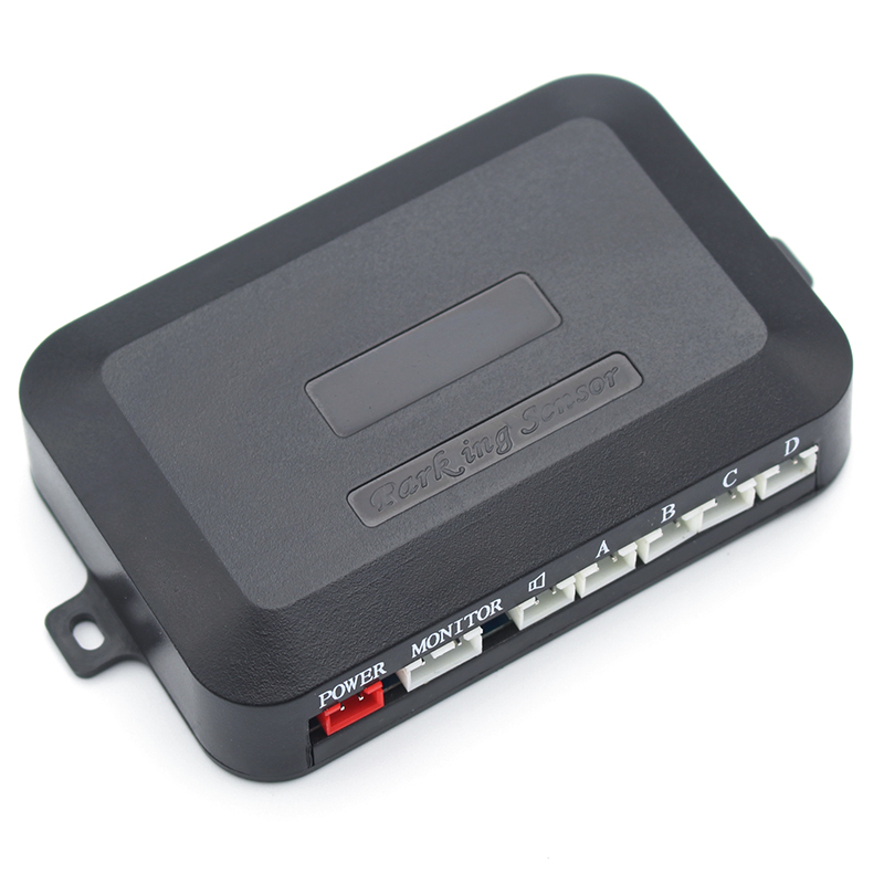 Dual-Core CPU Car Parking Sensor Car Parking Reverse Backup Radar System with 4 Sensors, Can Connect DVD&Monitor