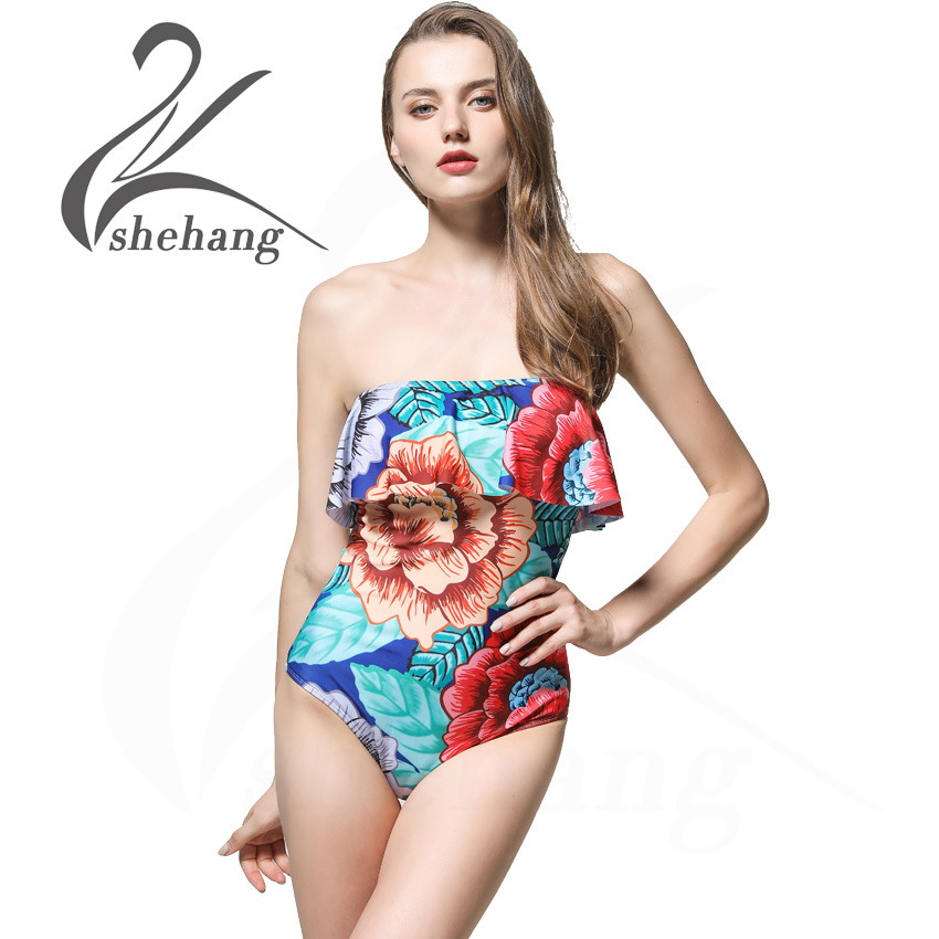 One Piece Swimsuit Plus Size Swimwear Women 2017 Push Up Bathing Suit Vintage Monokini Bodysuit Beach Wear High Cut Swim Suit sexy plus size swimwear one piece swimsuit women backless monokini trikini halter push up bathing suit beach wear bathing wear