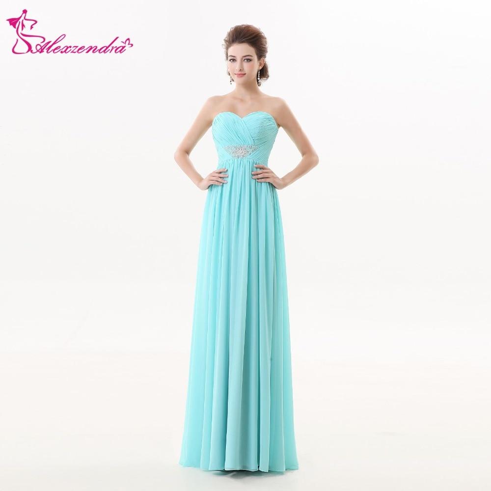Alexzendra bleu clair une ligne robes de bal en mousseline de soie sur mesure perlée chérie robes de bal robe de soirée
