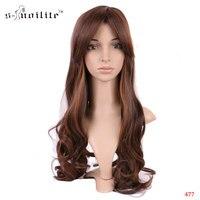SNOILITE 18 inç Vogue Kadınlar Uzun Kıvırcık Katmanlı Cosplay Peruk Kostüm Partisi Anime Tam Peruk Gerçek Doğal Hairpieces