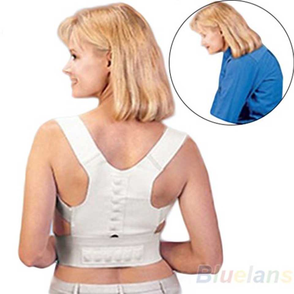 Ombro para trás Postura Saúde Magnético Ortopédica Endireitar Brace