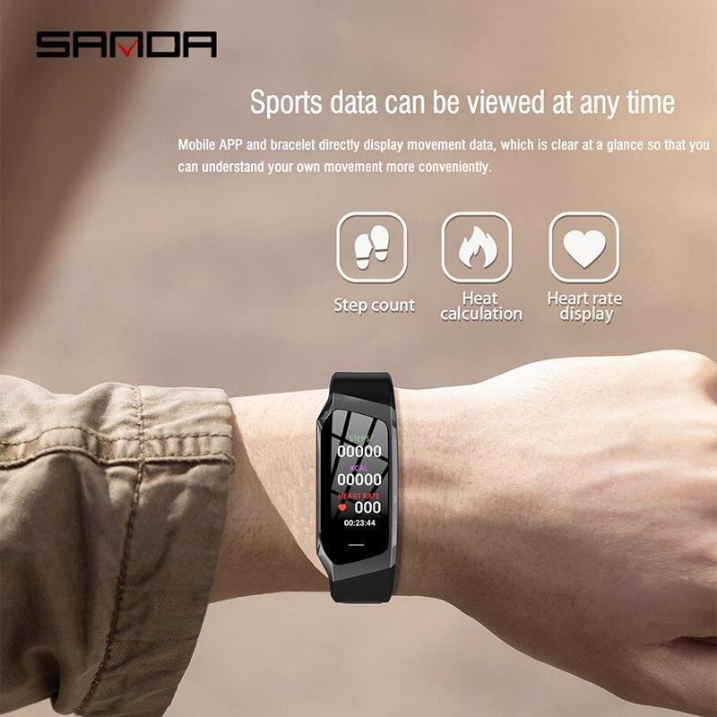 Спорт Multi function браслет для смарт часов напоминание о вызове usb часы мужские часы пульсометр напоминание о вызове будильник на запястье - 4