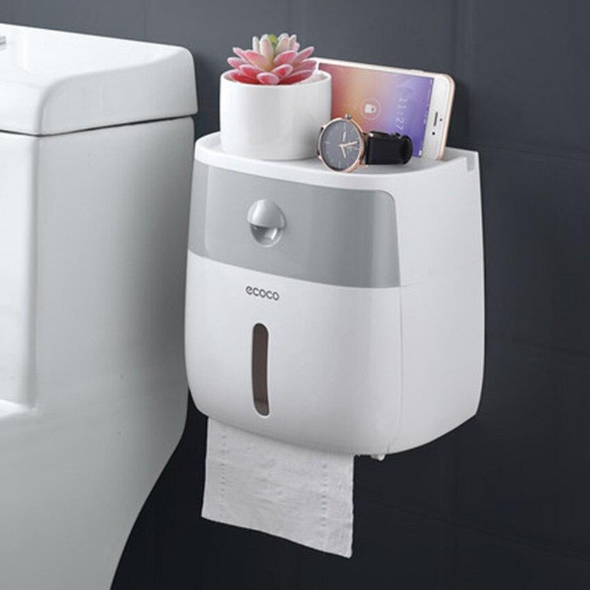 LF82003 toilet paper holder creative plastic bath toilet paper holder wall mounted paper storage box toilet