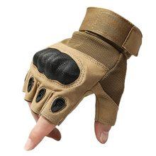Outdoor tactical gloves semi-finger Carbon fiber tortoise shell slip-resistant gloves military combat gloves free shipping