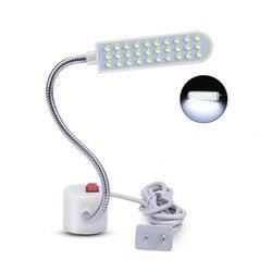 2019 tragbare Nähmaschine LED Licht 2 W 30LED Magnetische Montage Basis Schwanenhals Lampe für Alle Nähmaschine Beleuchtung UNS /EU Stecker