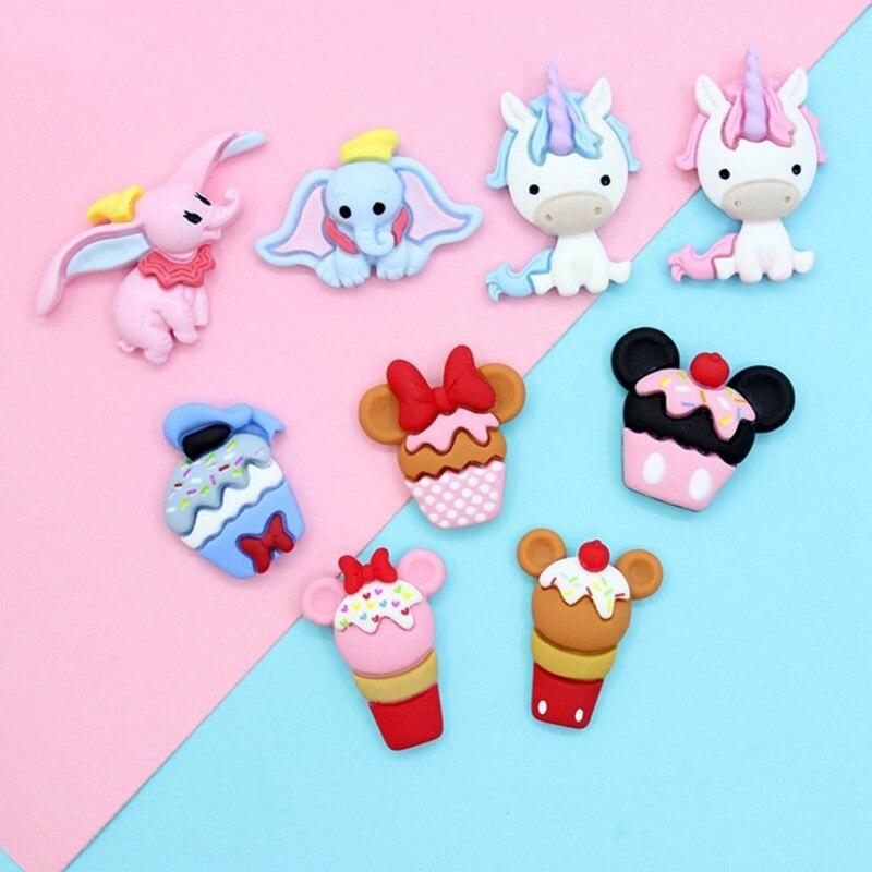 Flatback Resin Black White Kitty Lolita Craft Accessories Craft Supplies