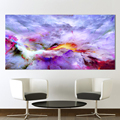QKART Wall Art Pictures For Living Room Dropshipping Abstract Unreal Clouds Canvas Oil Painting Printed No Frame