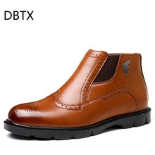New Arrival Luxury Brand Man Comfortable Shoes Male Genuine Leather Men's Cowboy Western  Chelsea Ankle Boots Shoes цены онлайн