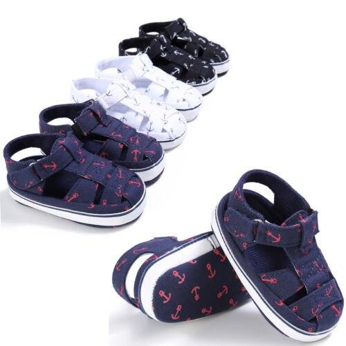 FOCUSNORM nueva moda niños recién nacidos bebé verano playa tela Prewalker zapatos 0-18 meses