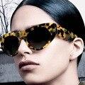 Mais nova Tendência Da Moda Retro Estilo Superstar Cateye Mulheres Homens Óculos De Sol Da Marca Designer Big Quadro Óculos de Sol Óculos de Proteção UV400