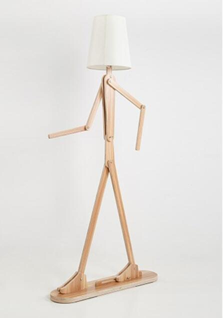 Modern wooden creative simple log color can be rotated floor lamp hotel room bedroom new Chinese style floor lamp ZH MZ68