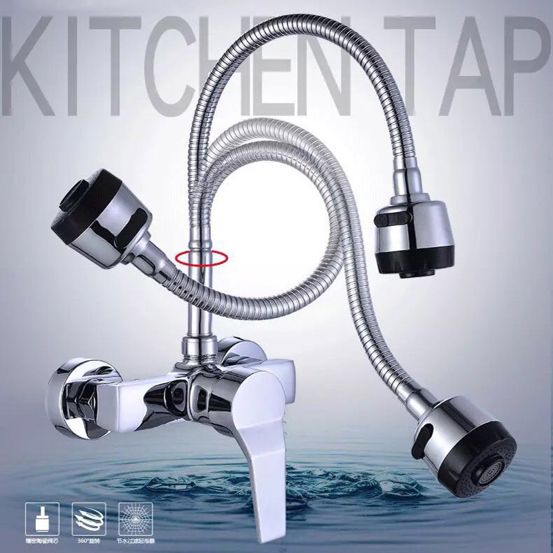 Becola Free Shopping 360 Rotation Faucet Chrome Water Power Swivel Kitchen Sink Mixer Tap Single Handle BR-9101-3