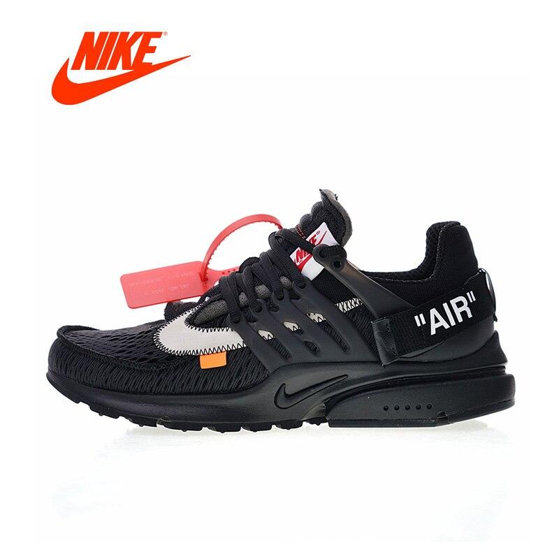 Novedad Original auténtico fuera de blanco x Nike Air Presto hombres cómodos zapatillas deportivas al aire libre AA3830-001