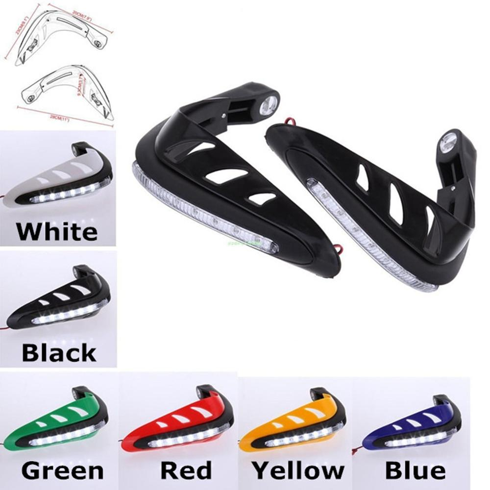 Hand guards brake clutch protector shield w led turn signals for kawasaki ninja 250r 300 400 650r zzr400 zx9r versys 650 1000