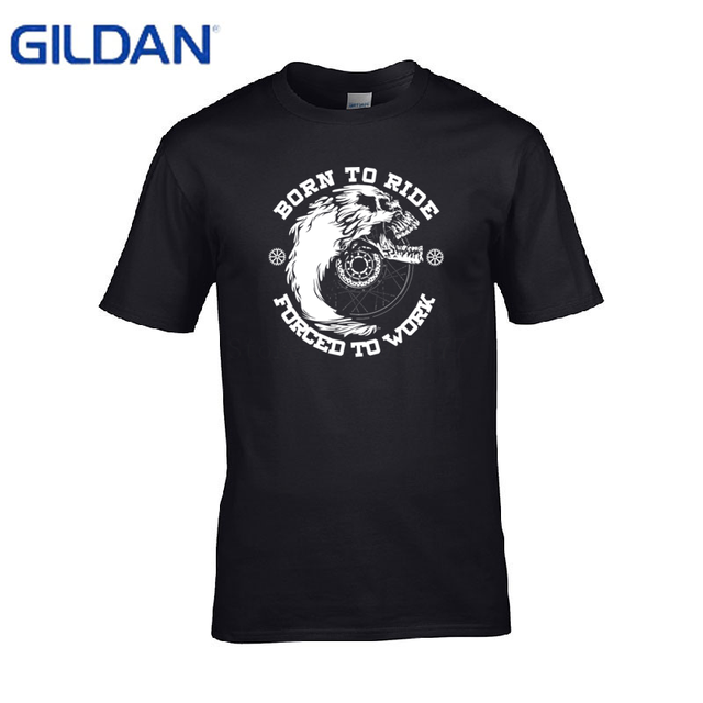 1d7894ca Customize men's tshirt 2017 Biker Life Usa Born To Ride / Ride To Live men t  shirt slim fit printed Printed Fitness t-shirt mens