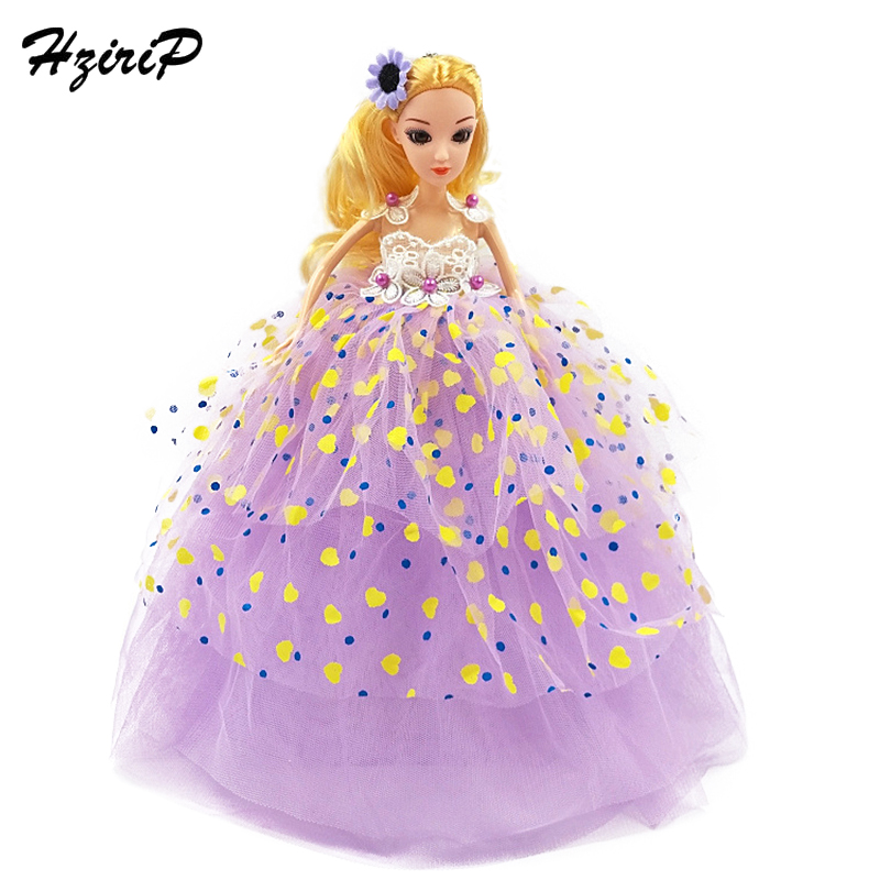 HziriP Retail New Fashion Dolls Wedding Printing Dress Keychain Pendant Girls Toys For Children Kids Birthday Christmas Gifts