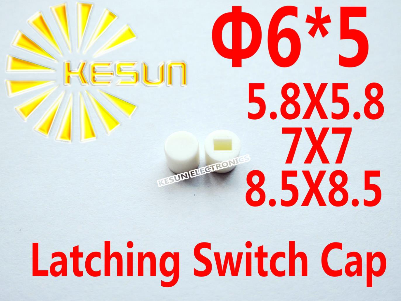 Electronic Components & Supplies Integrated Circuits Symbol Of The Brand 1000pcs White Cap For 5.8x5.8 7x7 8.5x8.5 Latching Switch Self-lock Push Button Switch