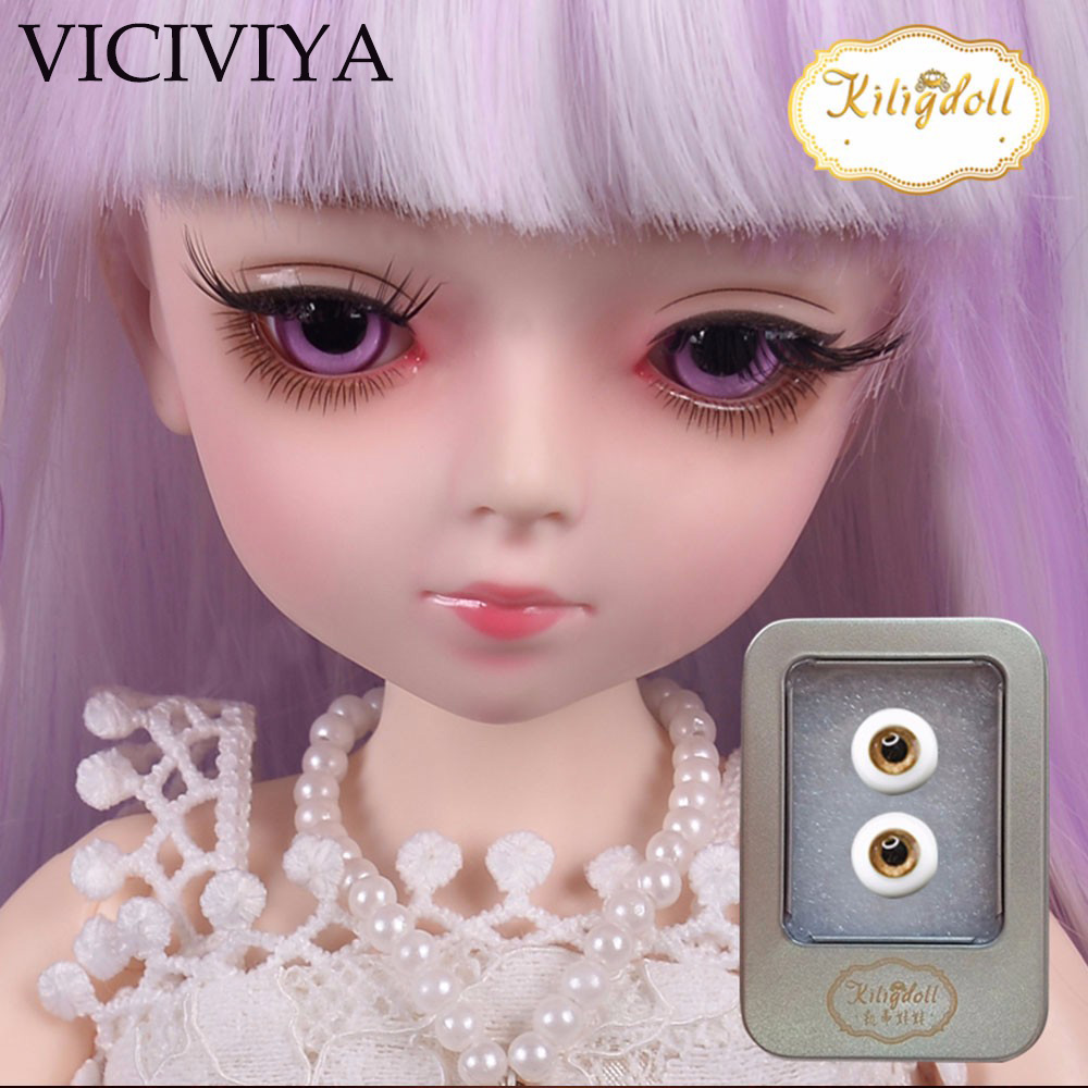 VICIVIYA <font><b>1/3</b></font> <font><b>BJD</b></font> SD <font><b>eyes</b></font> for 45CM Doll High-end Custom Dresses Dolls Accessories Eyeball 2pcs/set image