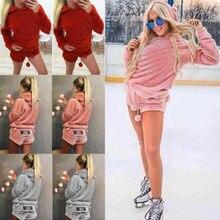 New Women Girl Warm Winter Hoodod Cute Pattern Top Shorts Fringe Soft Velvet Nightgown Suit Sleepwear