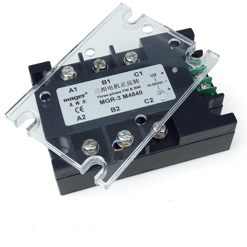 Free shipping 1pc MGR3 M4840 40A AC motor positive inversion solid state relay SSR 40A Relay motor normally open single phase solid state relay ssr mgr 1 d48120 120a control dc ac 24 480v