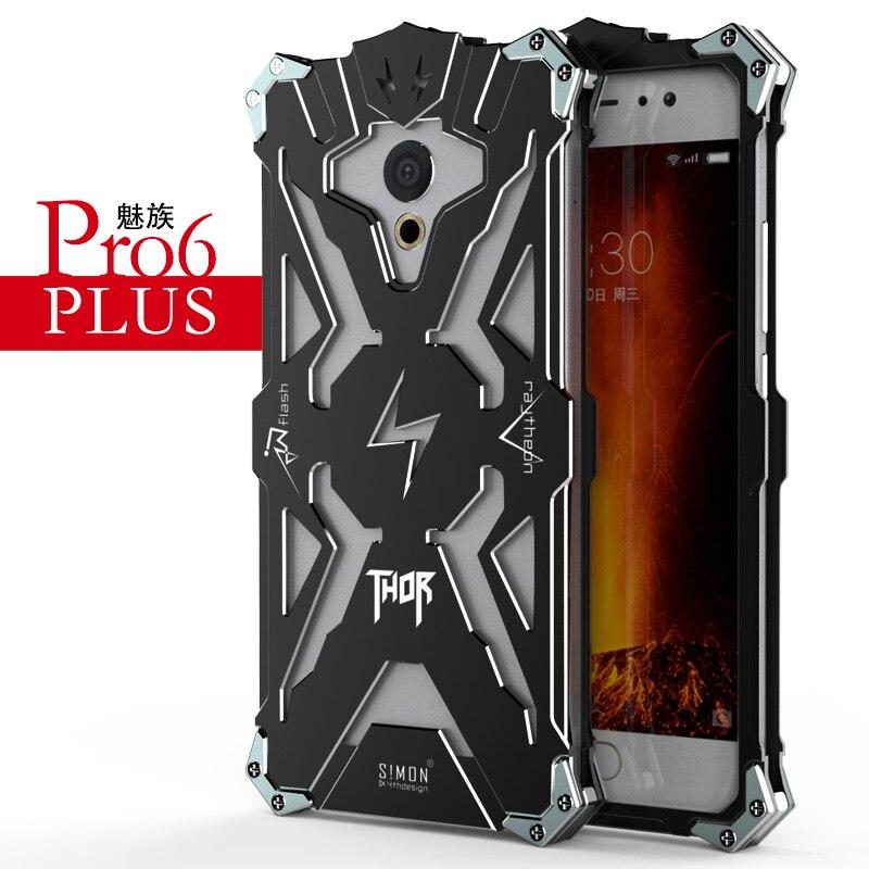 imágenes para Simon meizu pro 6 plus case metal armor thor ironman cubierta de aluminio a prueba de golpes cubierta protectora shell case