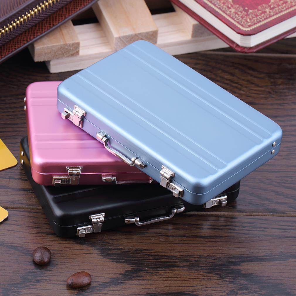 Mini briefcase business card case id holders password for Briefcase business card holder