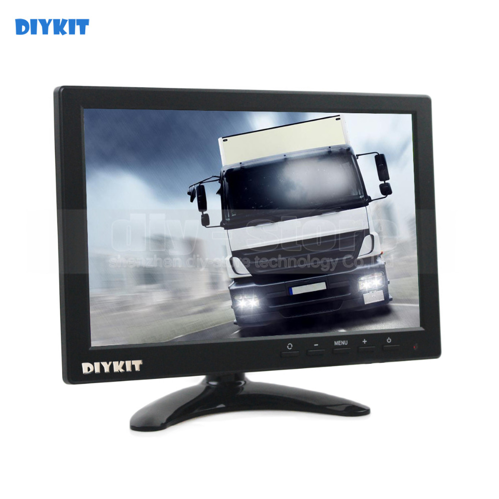 DIYKIT 10 1 inch TFT LCD HD Car Monitor Rear View Monitor Build in Speaker with