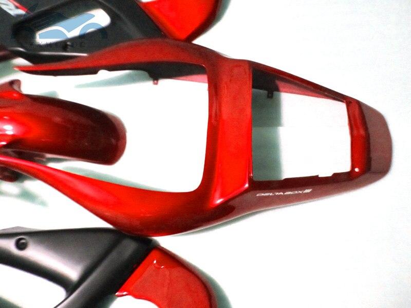 Personnalisé que vous avez besoin kit de carénages de moto pour YAMAHA R6 YZFR6 1998-2002 YZF R6 98-02 carénage de corps de course de sport rouge noir EB65 - 6