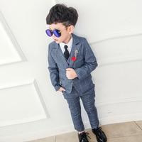 2019 New Boy Blazers Suit Boys Suits for Weddings Formal Suit for Kids Boy Birthday Dress Toddler Blazer(Blazer+Vest+Pant)