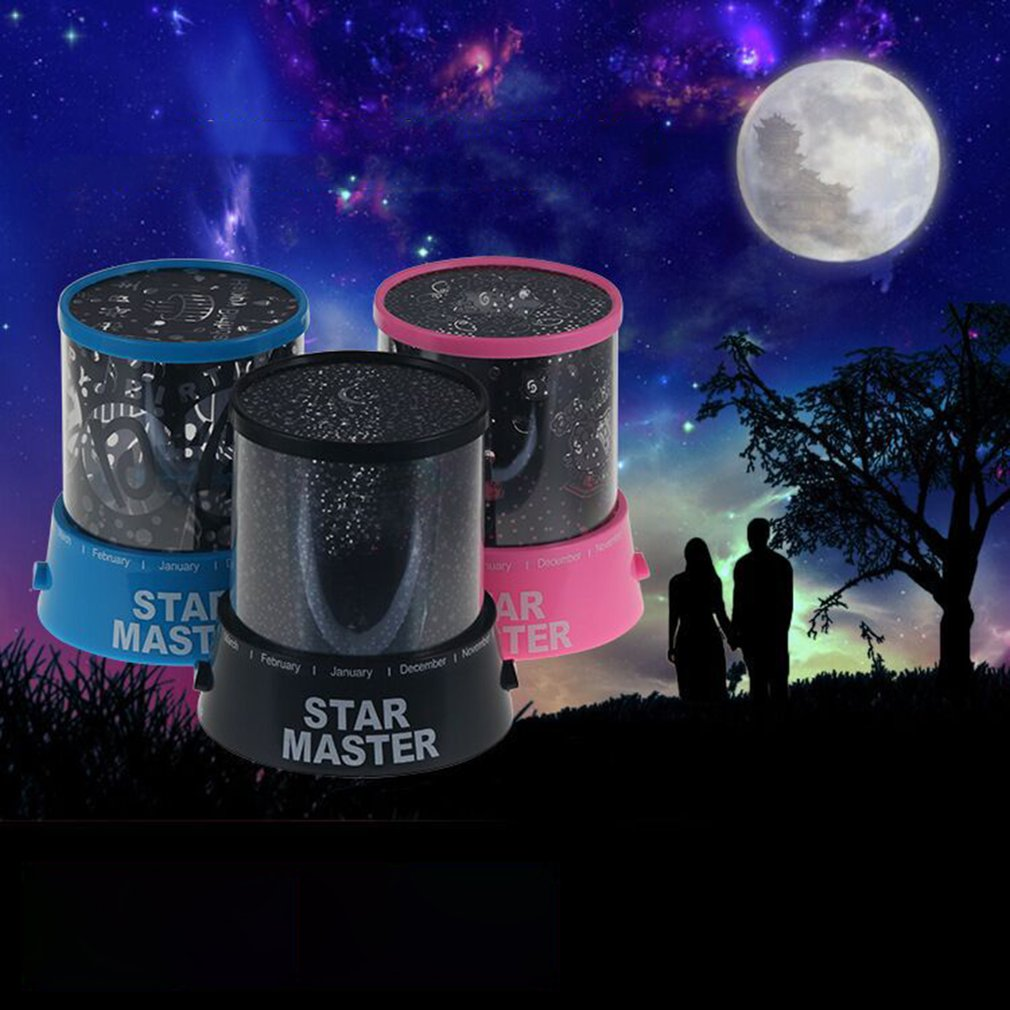 Colorful LED Night Light Projector Starry Sky Star Moon Children Kids Baby Sleep Romantic LED Projection Lamp Room Decor