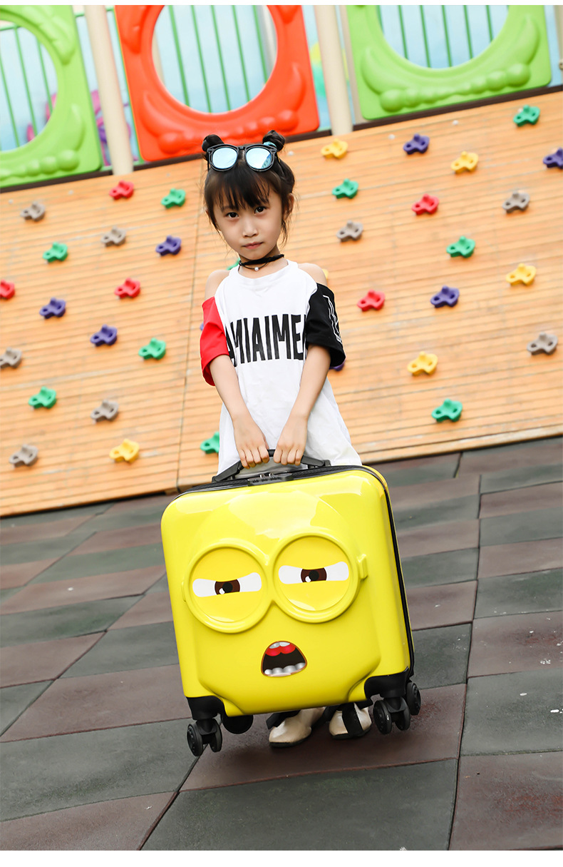 20 inch Kids Suitcase 3D Travel Luggage Children Travel Trolley Suitcase wheels Child suitcase Boy Girl Toys Rolling luggage