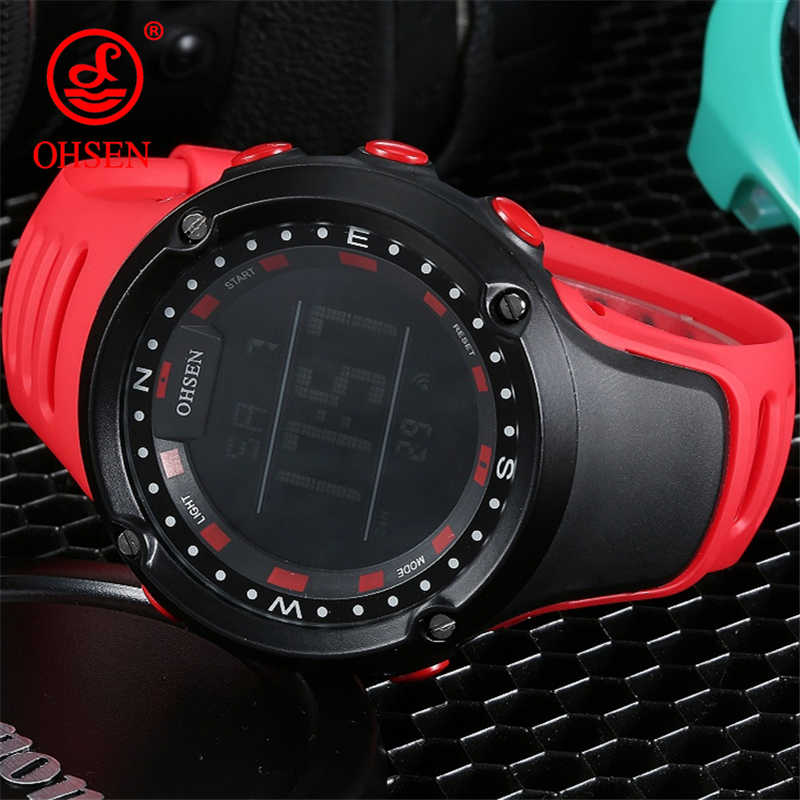 OHSEN Top LED Digital Men's Watch Kids Watches Women Sport Clock Child Sports Wrist Watch Electronic for Girl Boy Surprise Gift